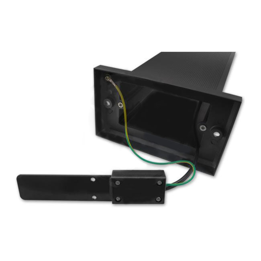 Staande buitenlamp lantaarn 50 centimeter GU10 fitting zwart - bedrading