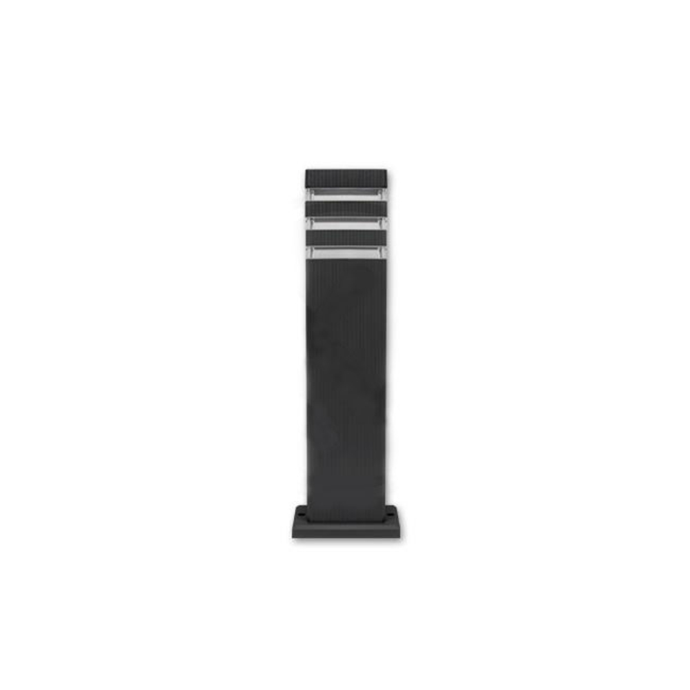 Staande buitenlamp lantaarn 50 centimeter GU10 fitting zwart - vooraanzicht