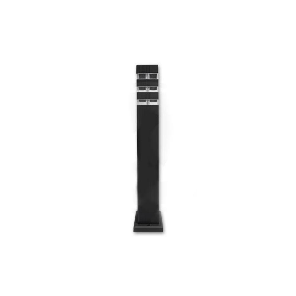 Staande buitenlamp lantaarn 50 centimeter GU10 fitting zwart - recht zijaanzicht