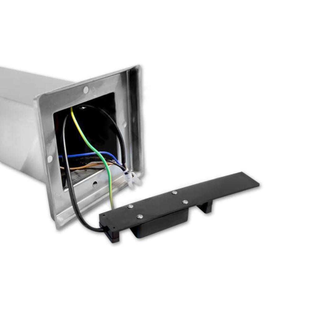 Staande buitenlamp lantaarn met stopcontact 65 centimeter E27 fitting zilver - bedrading