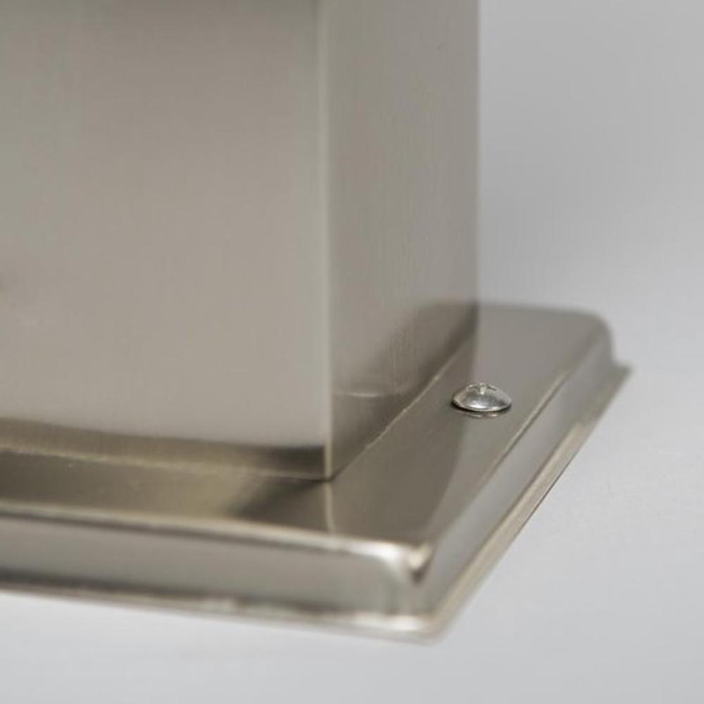 Staande buitenlamp lantaarn met stopcontact 65 centimeter E27 fitting zilver - voet lamp