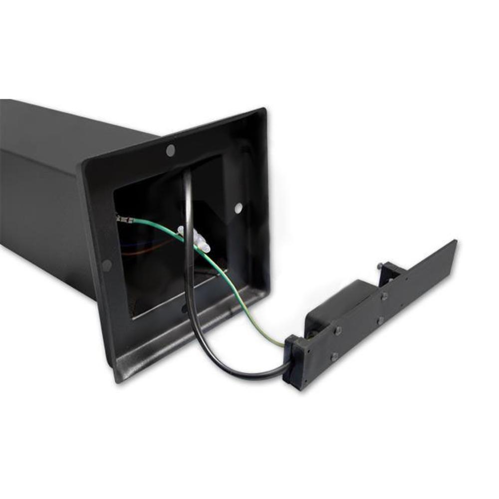Staande buitenlamp lantaarn met stopcontact 65 centimeter E27 fitting zwart - bekabeling