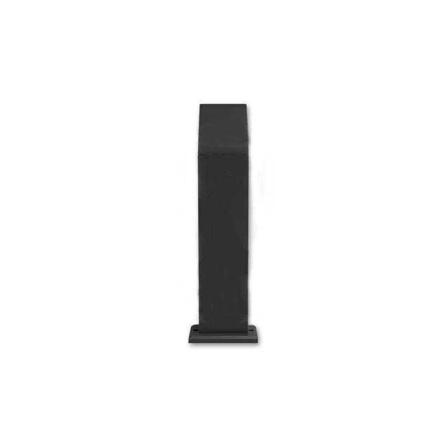 Staande buitenlamp lantaarn 50 centimeter 12 Watt zwart 4000K - naturel wit - achterkant