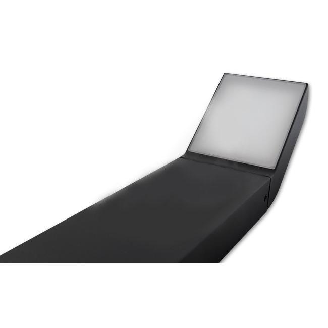 Staande buitenlamp lantaarn 50 centimeter 12 Watt zwart 4000K - naturel wit - liggend