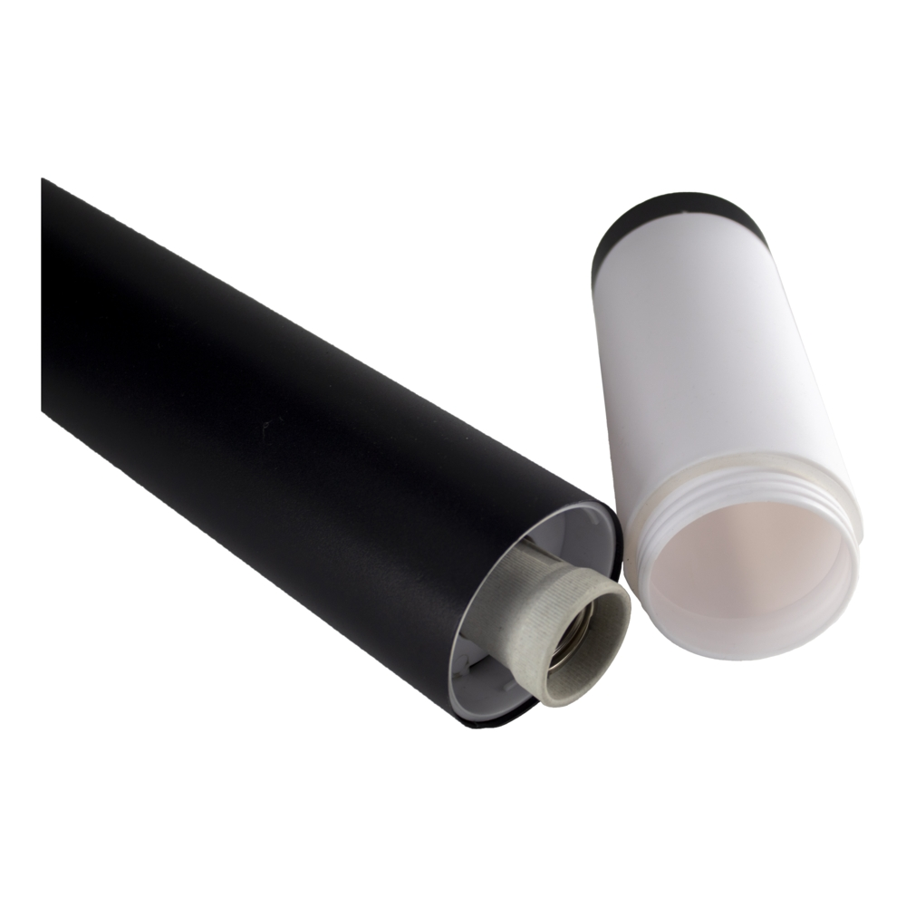 Staande buitenlamp zwart rond 65cm IP44 Gomera - tuinpaal - modern - E27 fitting - binnenkant