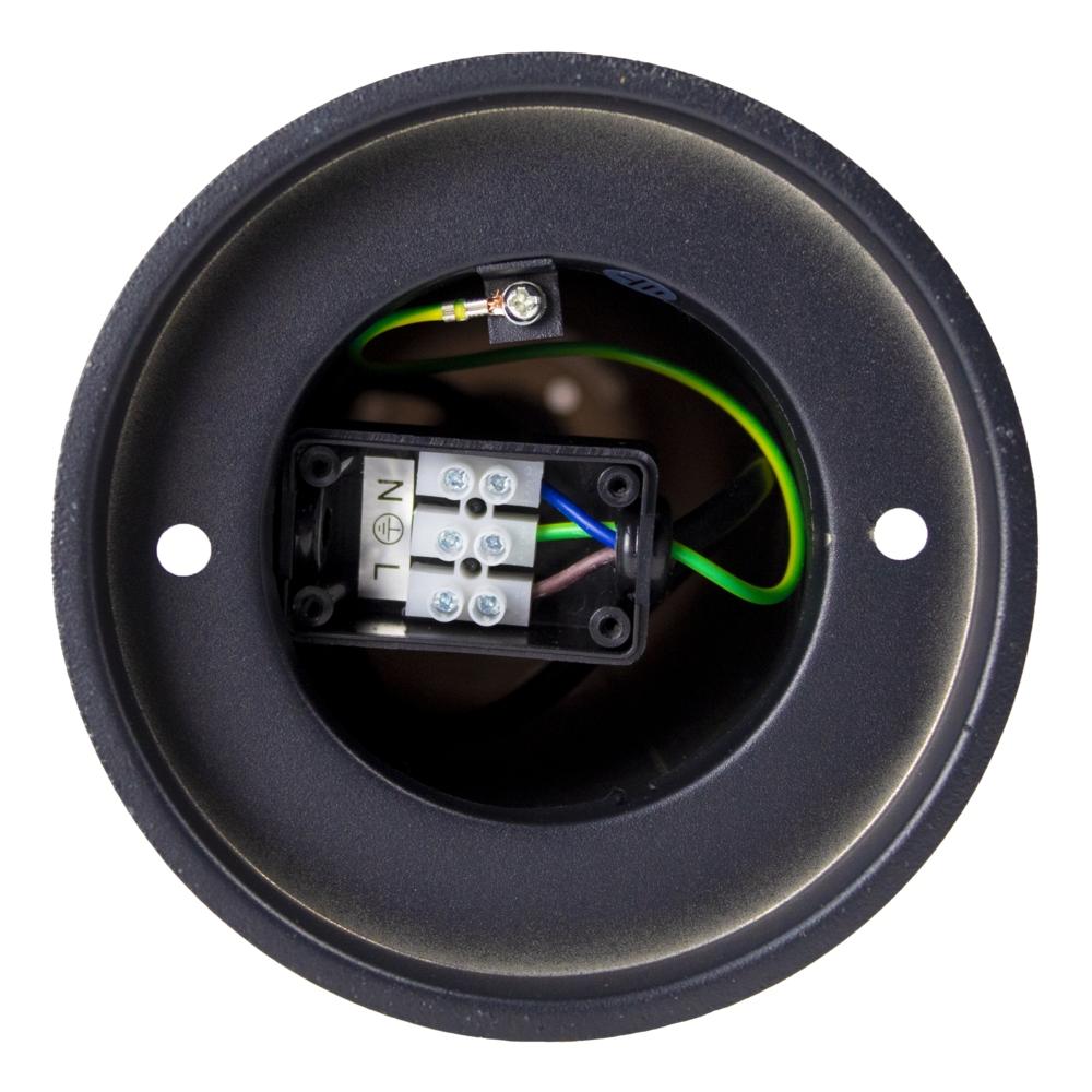Staande buitenlamp zwart rond 65cm IP44 Gomera - tuinpaal - modern - E27 fitting - voet onderkant