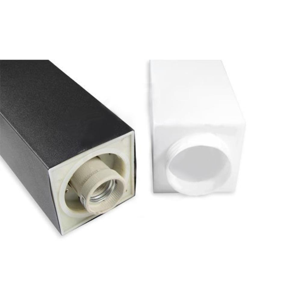 Staande buitenlamp lantaarn 65 centimeter E27 fitting zwart - fitting