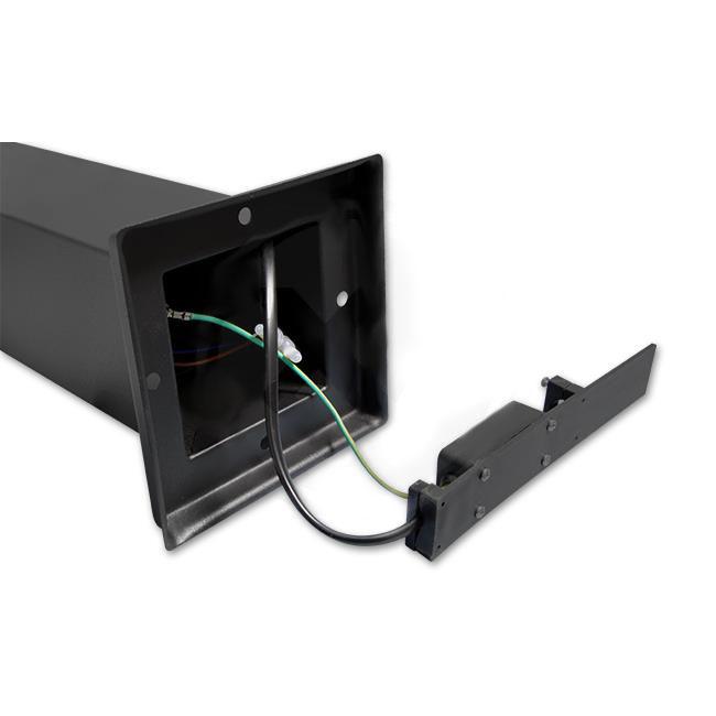 Staande buitenlamp lantaarn 65 centimeter E27 fitting zwart - bedrading