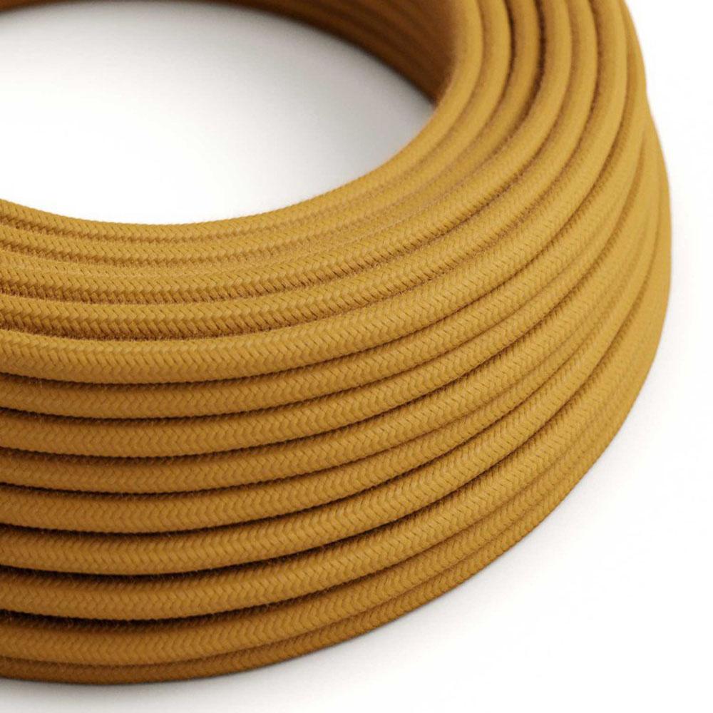 Strijkijzersnoer 220 Volt 1 meter standaard bruin goud - kabel op rol