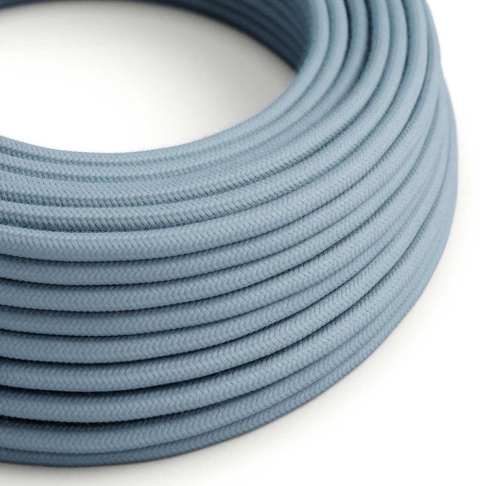 Strijkijzersnoer 220 Volt 1 meter standaard lichtblauw - kabel op rol