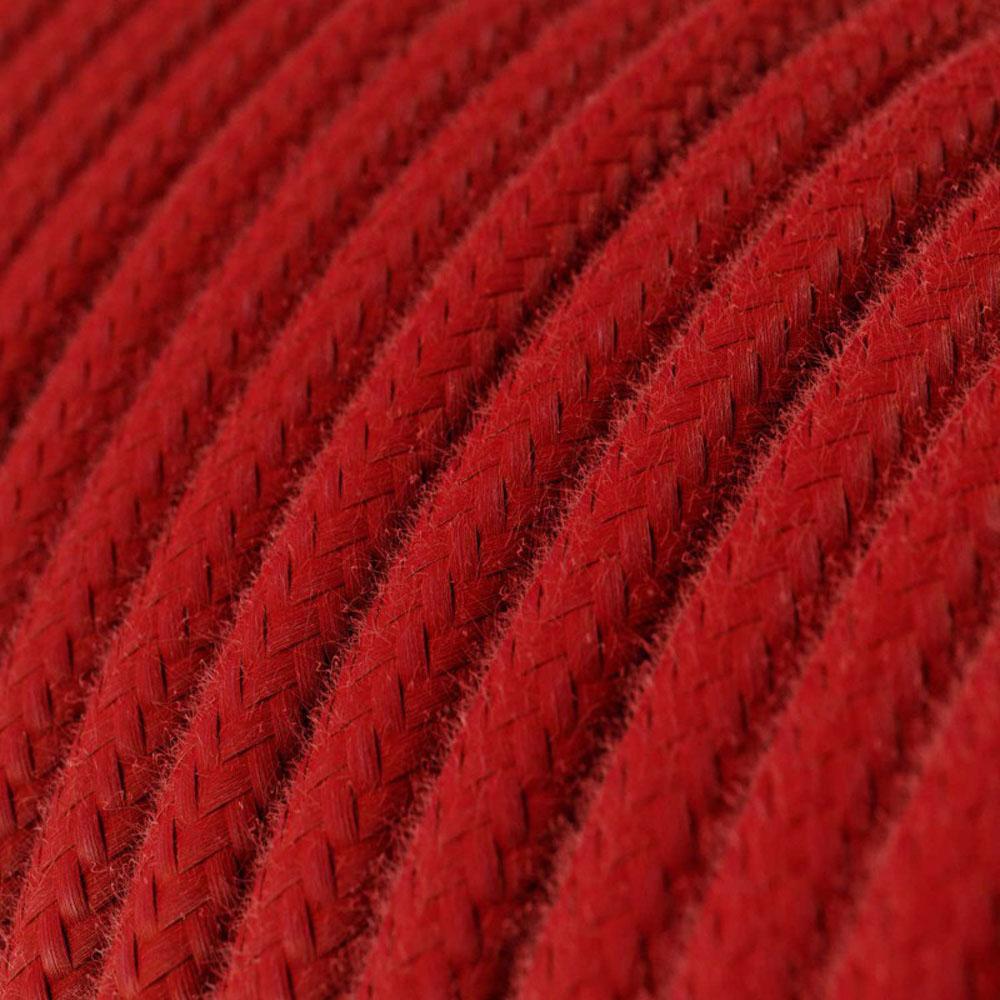 Strijkijzersnoer 220 Volt 1 meter standaard rood - closeup