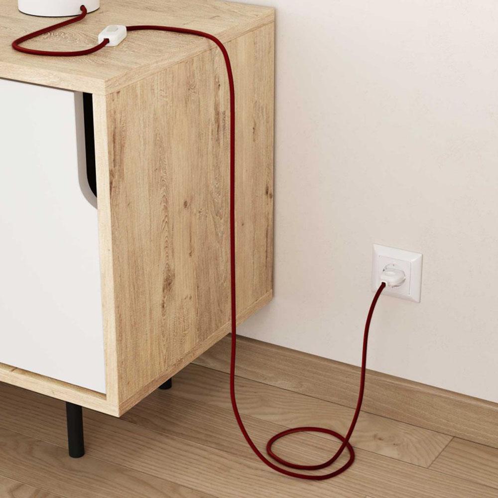 Strijkijzersnoer 220 Volt 1 meter standaard rood - inrichting