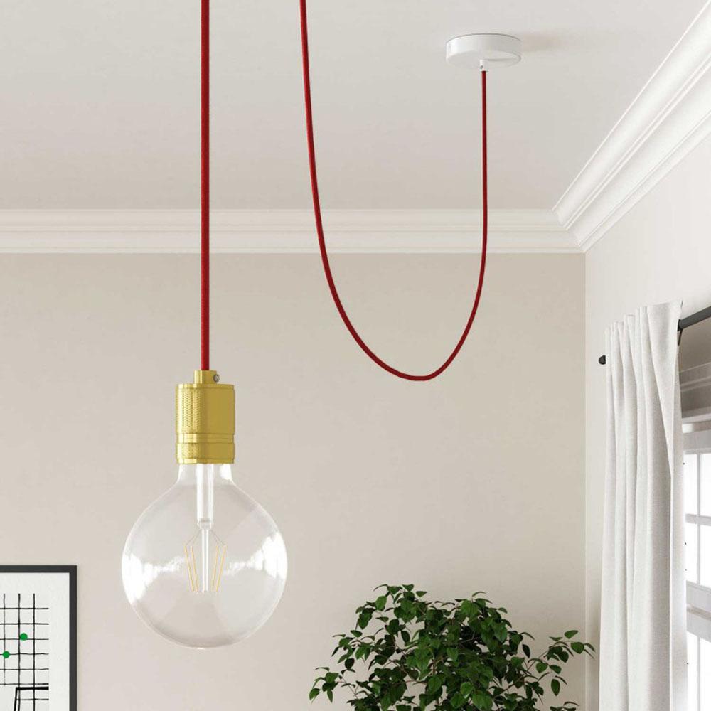Strijkijzersnoer 220 Volt 1 meter standaard rood - voorbeeld