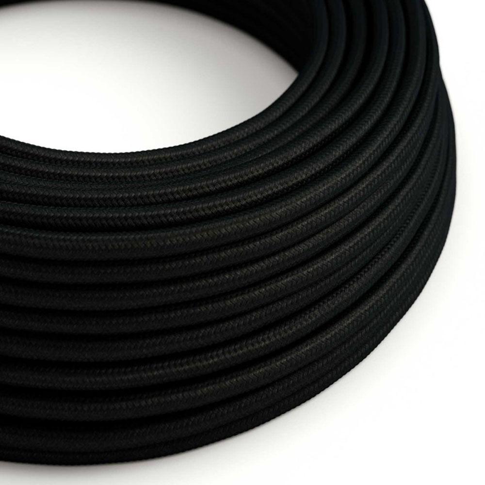 Strijkijzersnoer 220 Volt 1 meter standaard zwart - kabel op rol