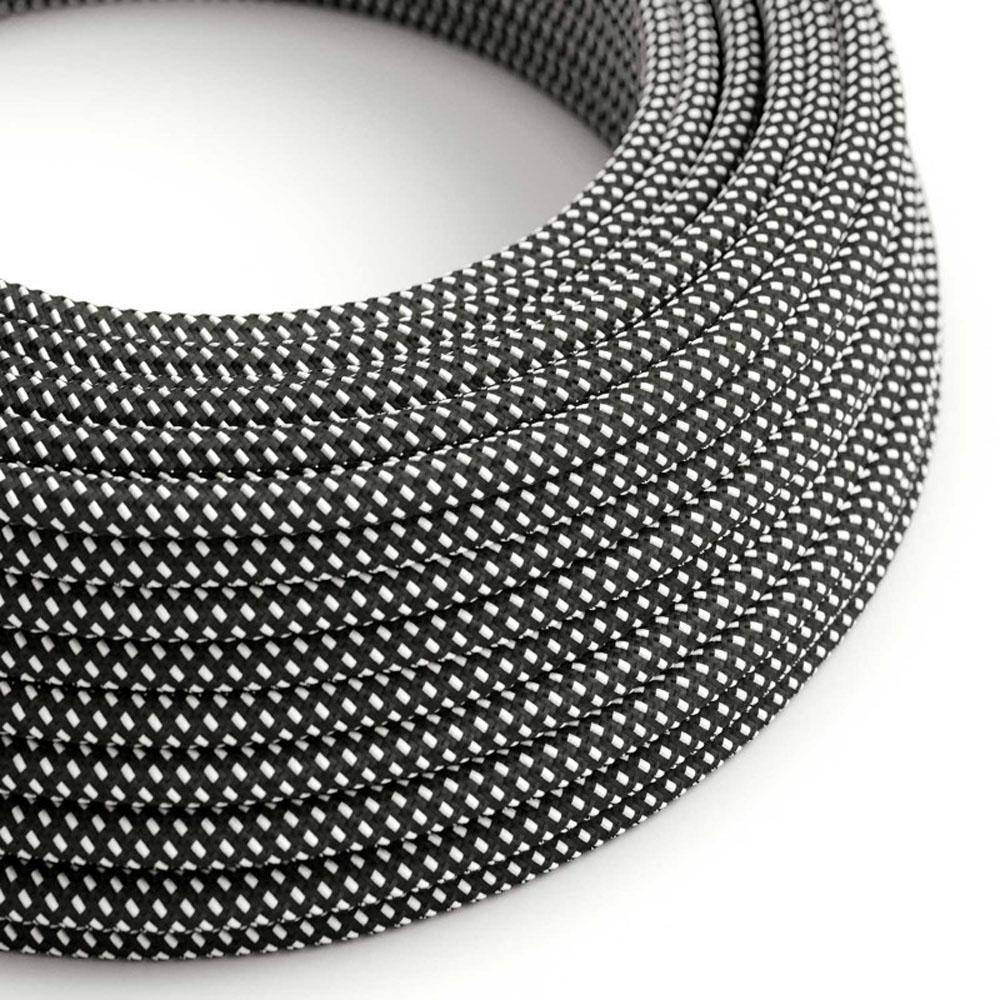Strijkijzersnoer 220 Volt 1 meter zwart wit pixel - rol