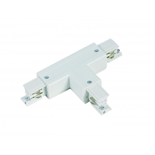 T vorm connector wit voor 3-fase rails