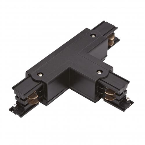 T vorm connector voor zwarte 3-fase rail