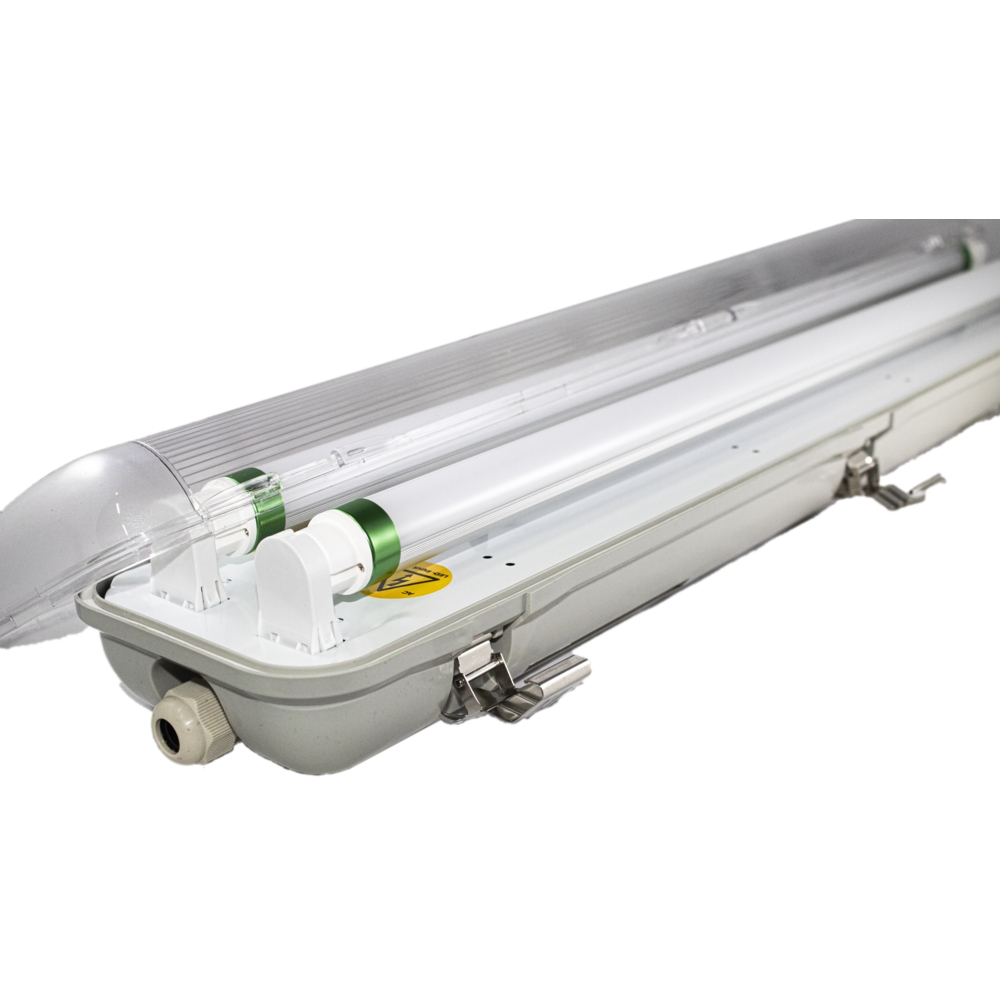 LED TL armatuur - bak - voor T8 LED TL buizen - waterdicht - IP65 - dubbel - 60cm - 120cm - 150cm