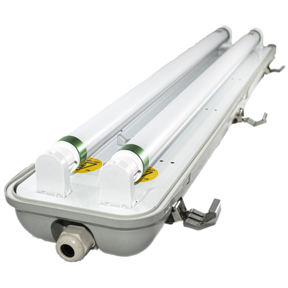 LED TL armatuur - bak - voor T8 LED TL buizen - waterdicht - IP65 - dubbel - 60cm - 120cm - 150cm - met TL buizen