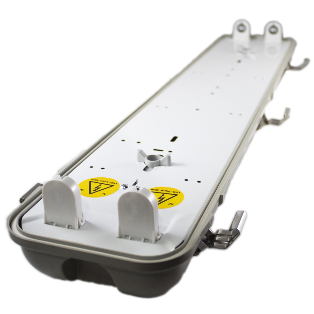 LED TL armatuur - bak - voor T8 LED TL buizen - waterdicht - IP65 - dubbel - 60cm - 120cm - 150cm - een kant gevoed