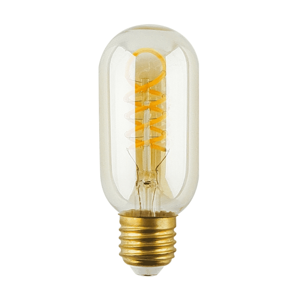 LED Lamp 4 watt - Tubular - 45mm - E27 - dimbaar - goud glas - 2500K warm wit