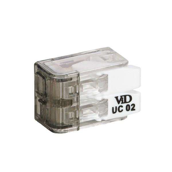 Lasklemmen universeel - 2x 0.2mm tot 4mm draden - 100 stuks - 2 voudig - zijaanzicht