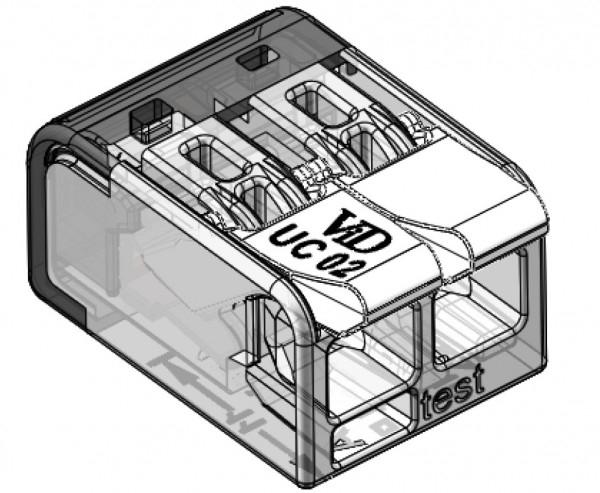 Lasklemmen universeel - 2x 0.2mm tot 4mm draden - 100 stuks - 2 voudig - tekening