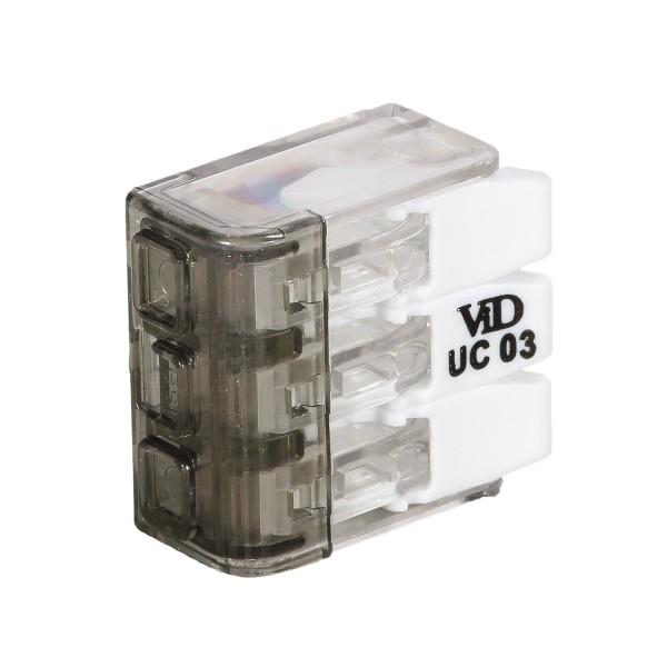 Universele lasklem - 3x 0.2mm tot 4mm - 3 voudig - per 50 stuks - zijaanzicht
