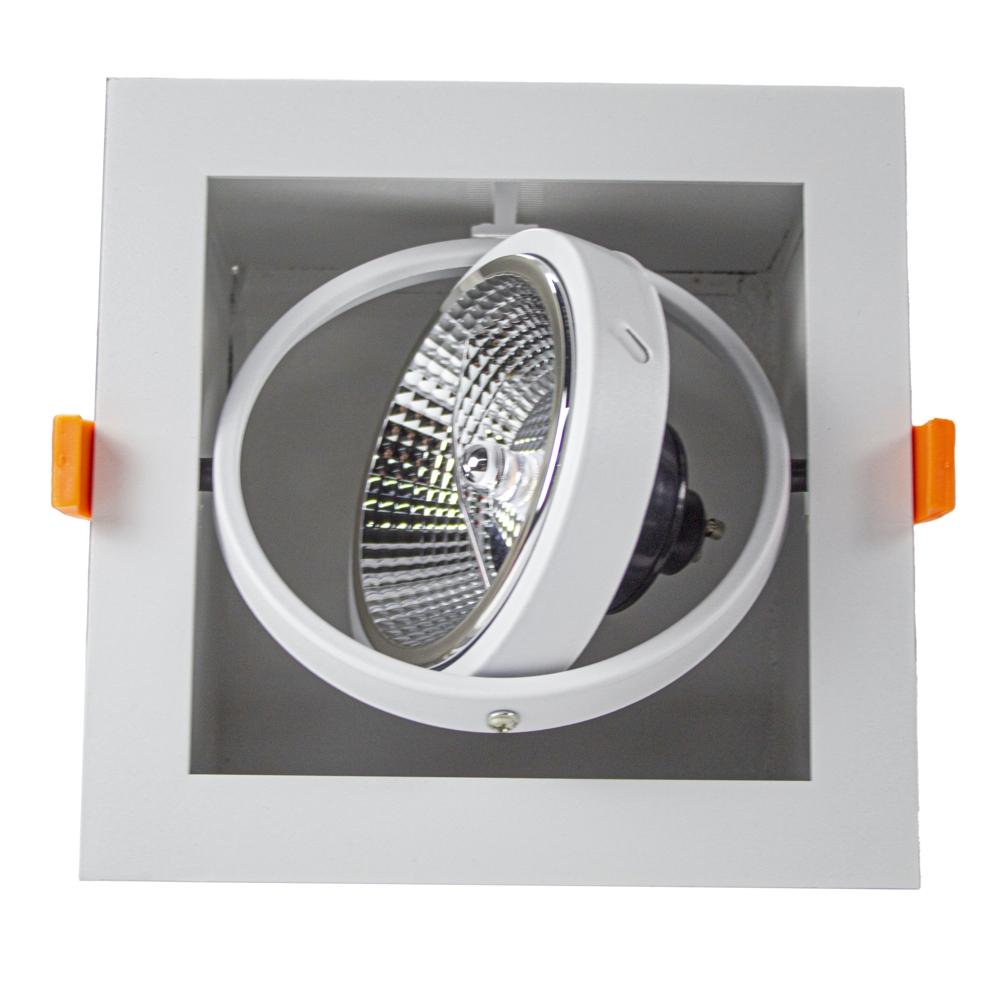Inbouw armatuur voor AR111 spots - dimbaar - kantelbaar - WIT - enkel