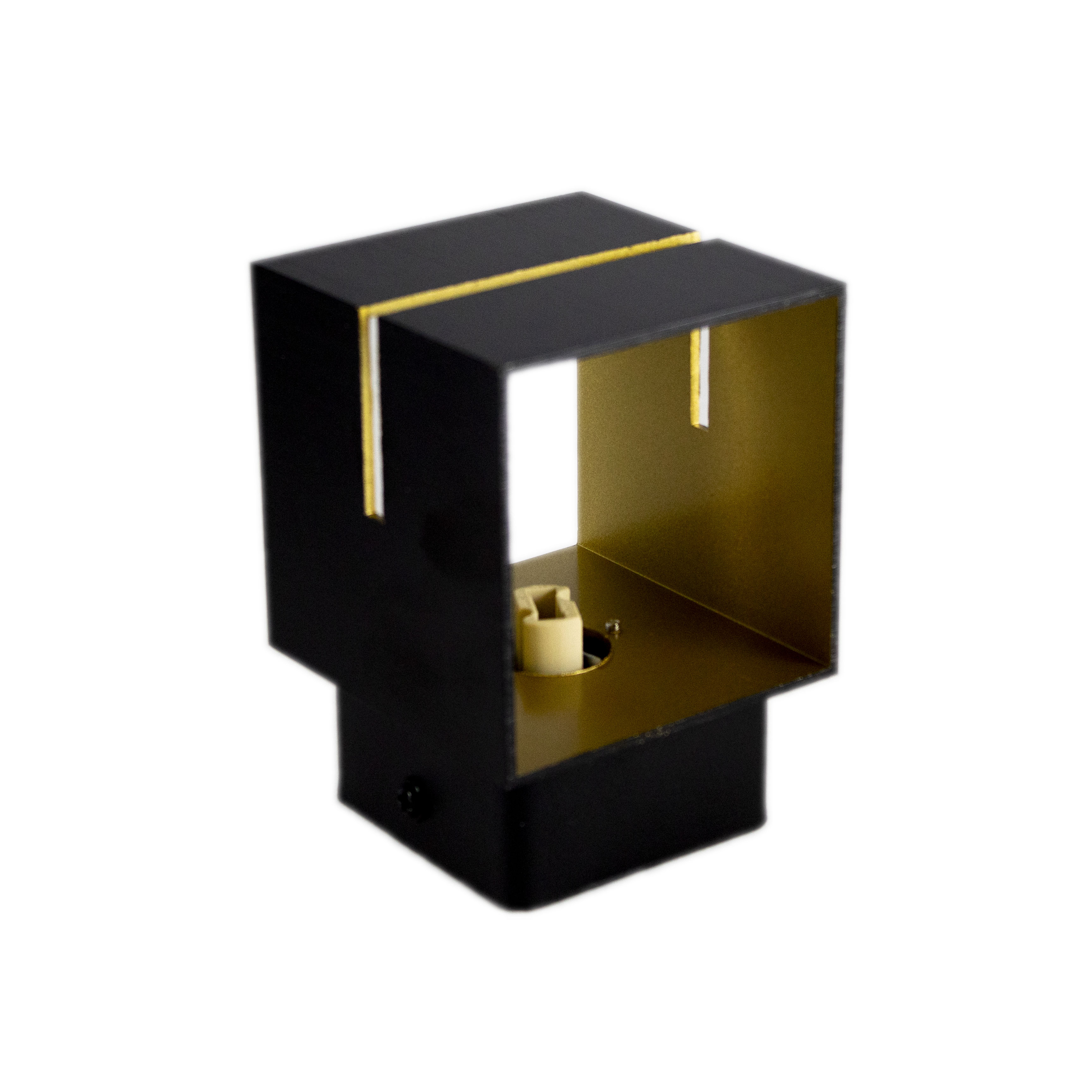 Led wandlamp vierkant zwart goud 2 keer G9 fitting - ip20 - lamp staand