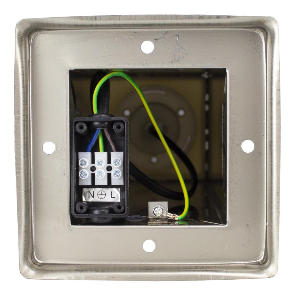Vierkante Tuinpaal - Tuin lantaarn - staande lamp - zilver - 45cm - E27 fitting - onderkant