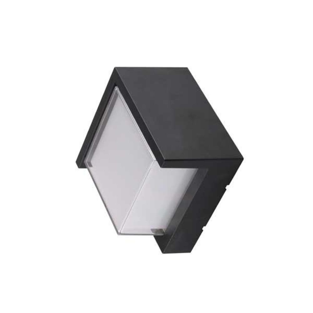 Vierkante wandlamp buiten zwart 15W