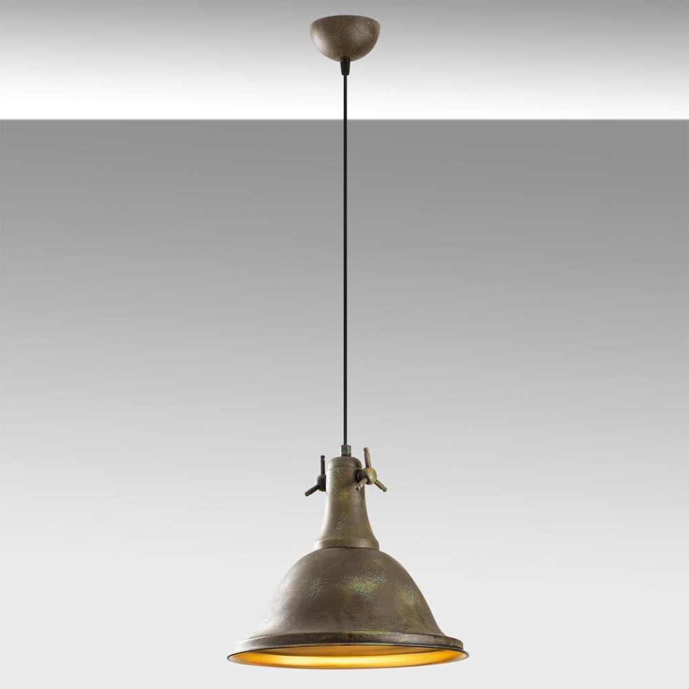 Vintage Hanglamp Metaal - Rusty Koper - Goud _ Asmara - sfeer