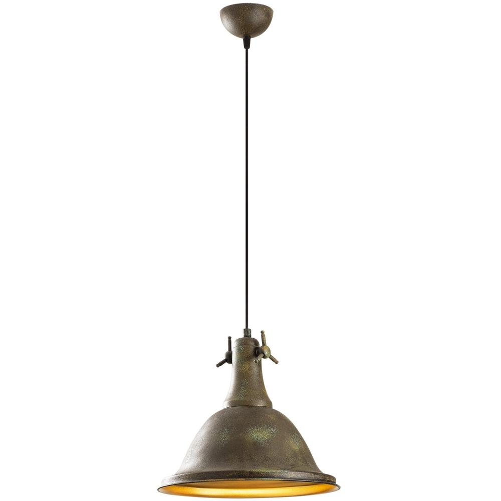 Vintage Hanglamp Metaal - Rusty Koper - Goud _ Asmara - vooraanzicht