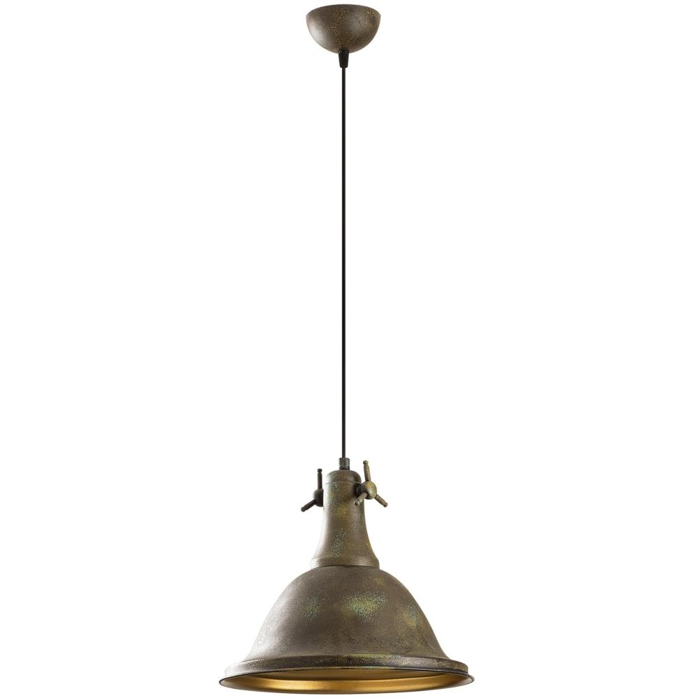 Vintage Hanglamp Metaal - Rusty Koper - Goud _ Asmara - zijaanzicht