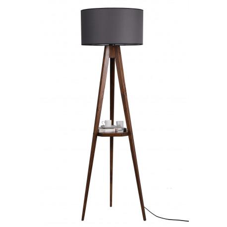 Houten vloerlamp met tafel zwart - sfeerfoto