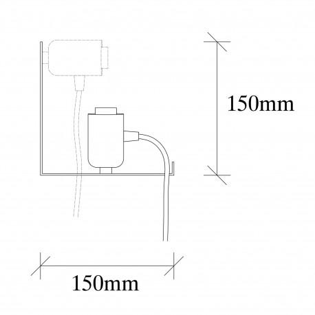 Moderne wandlamp zwart E27 fitting 40 centimeter - afmetingen