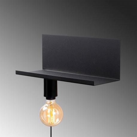 Moderne wandlamp zwart E27 fitting 40 centimeter - lamp aan de onderkant