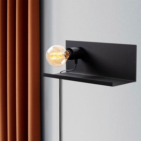 Moderne wandlamp zwart E27 fitting 40 centimeter - sfeerfoto