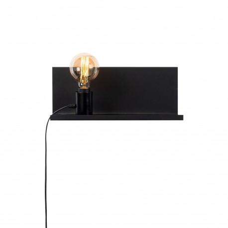 Moderne wandlamp zwart E27 fitting 40 centimeter - vooraanzicht