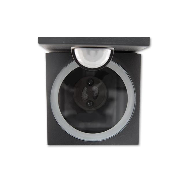 Wandlamp kantelbaar met sensor 1 x GU10 fitting zwart - GU10 fitting