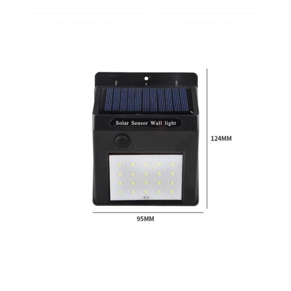 Buiten wandlamp Solar met sensor 3 Watt 6000K - daglicht wit - afmetingen
