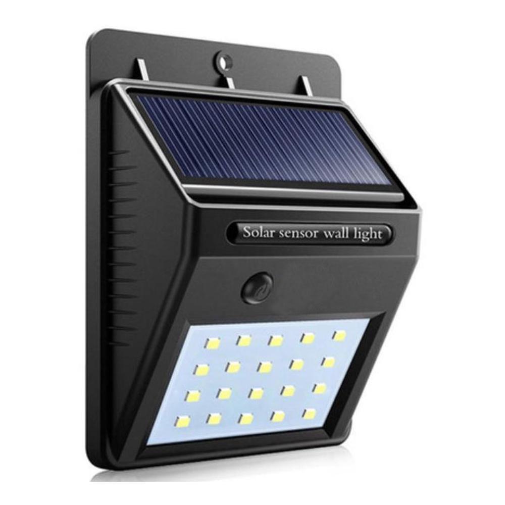 Wandlamp solar met schemersensor zwart 3 Watt - z