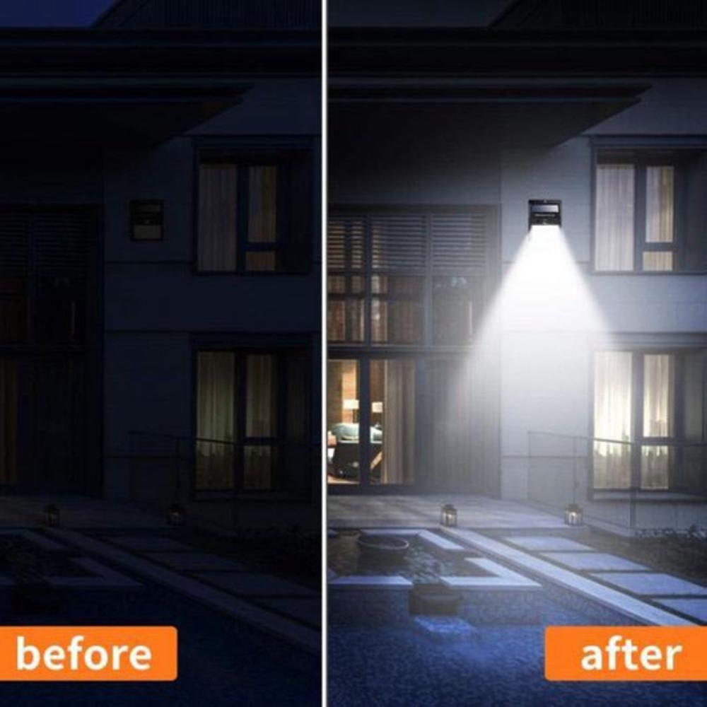 Buiten wandlamp Solar met sensor 3 Watt 6000K - daglicht wit - voorbeeld buiten
