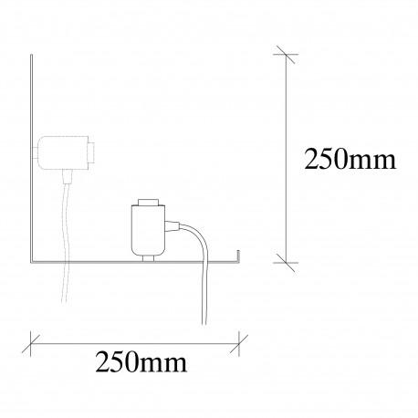 Moderne wandlamp zwart E27 fitting - afmetingen