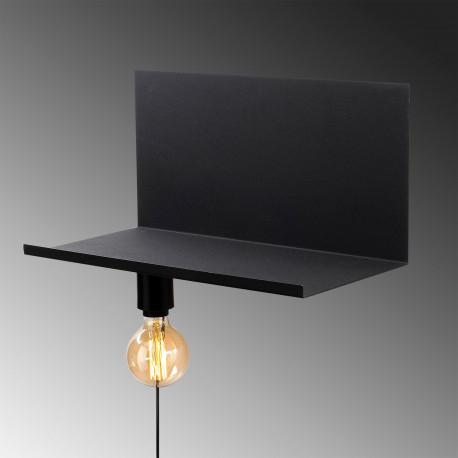 Moderne wandlamp zwart E27 fitting - lamp aan de onderkant