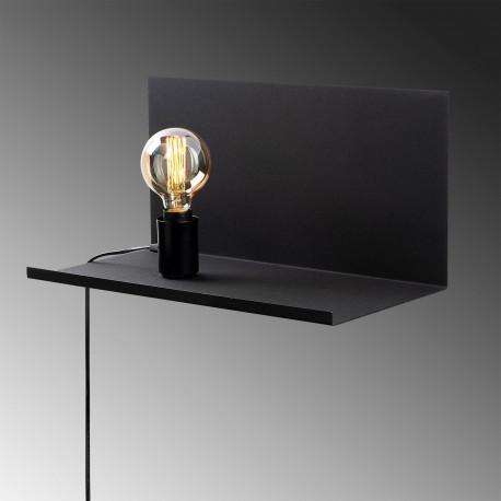 Moderne wandlamp zwart E27 fitting - lamp aan de bovenkant