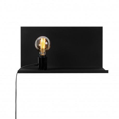 Moderne wandlamp zwart E27 fitting - vooraanzicht