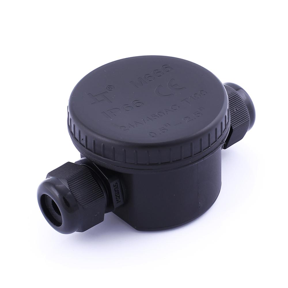Waterdichte lasdoos 2-voudig IP66 zwart - bovenaanzicht lasdoos