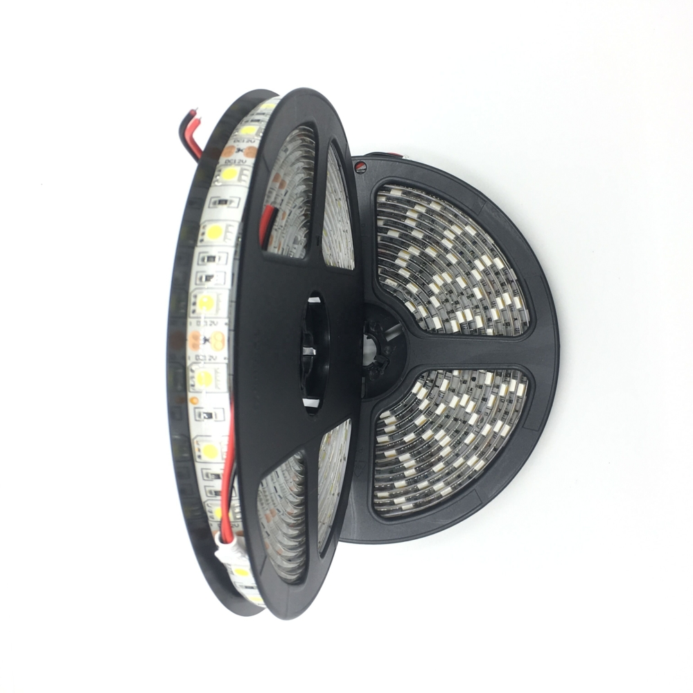 LED Strip rol 5 meter - 5050 - 60 LED's - 12 volt - Warm wit - naturel wit - waterdicht